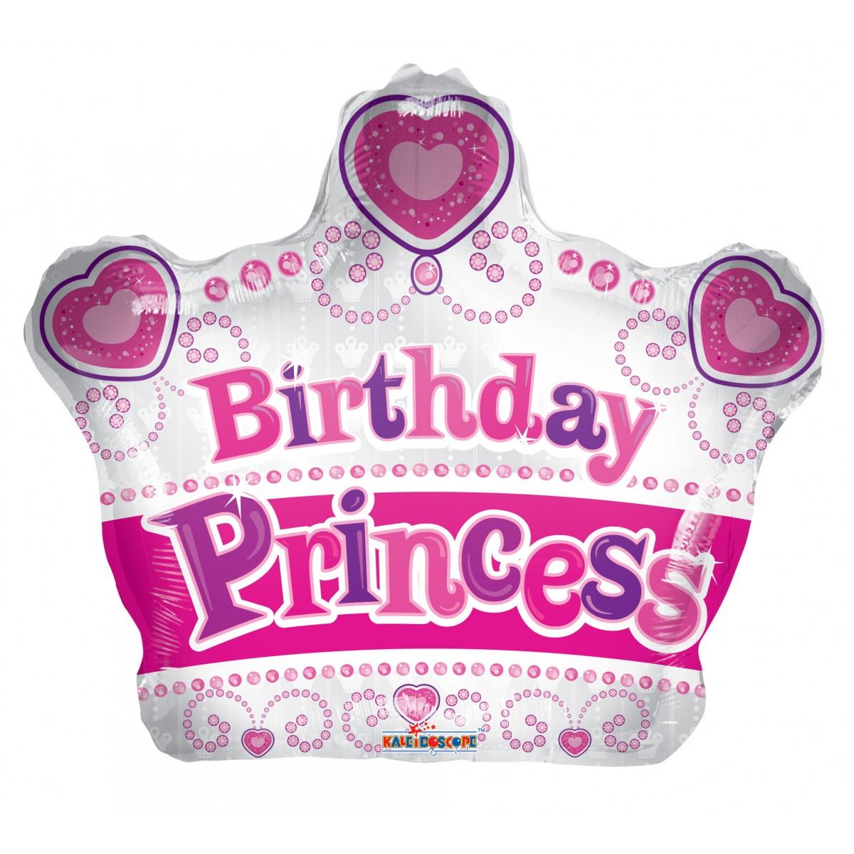 "Shape corona 18""/45cm Birthday princess"