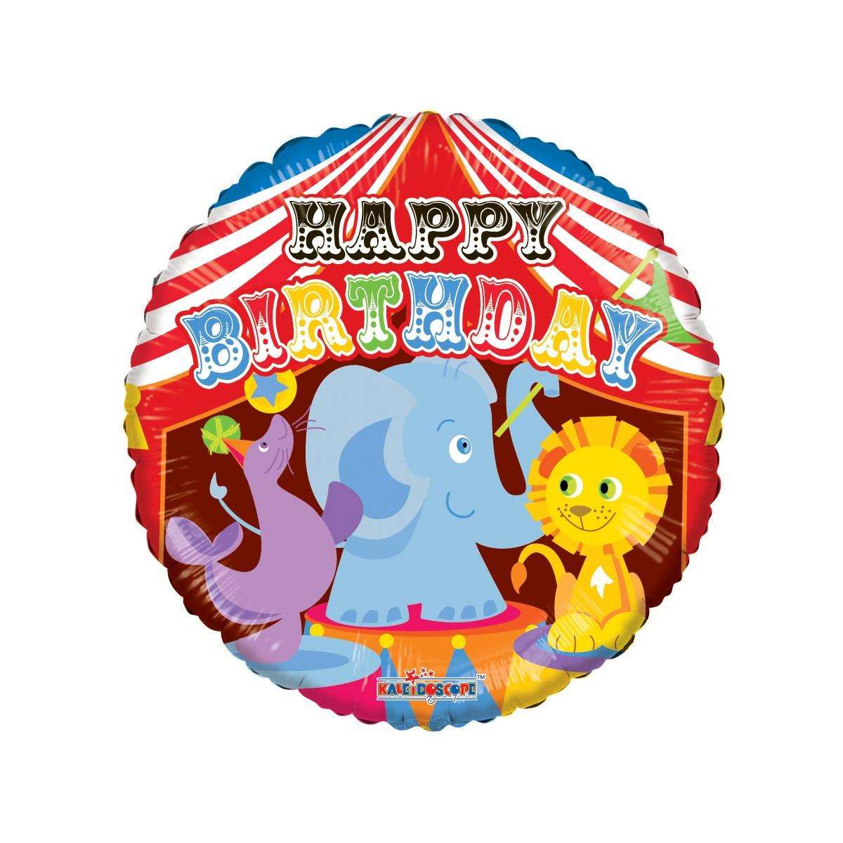 "Shape 18""/46cm Happy Birthday circus"