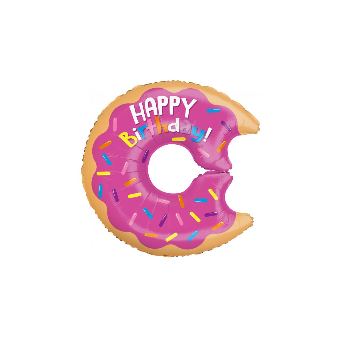 "Supershape 28""71cm Happy Birthday donuts"