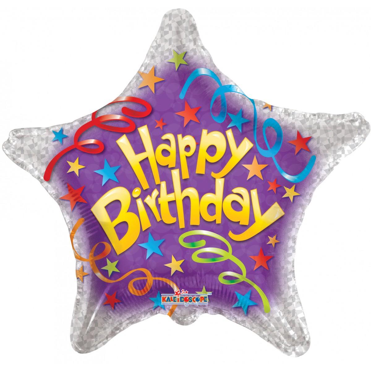 "Shape 18""/46cm Happy Birthday streamers"