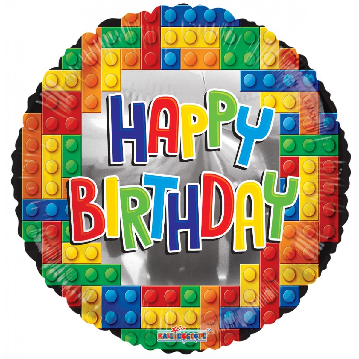 "Shape 18""/45cm Happy Birthday Lego"