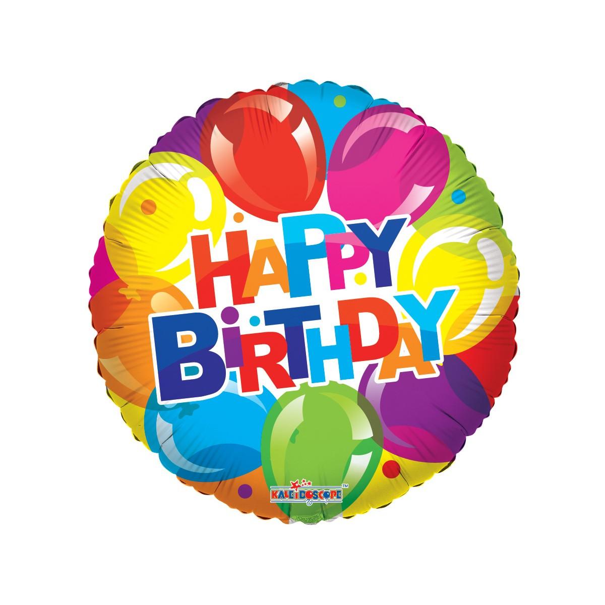 """Shape 18""""/45cm Happy Birthday Shiny balloons"""