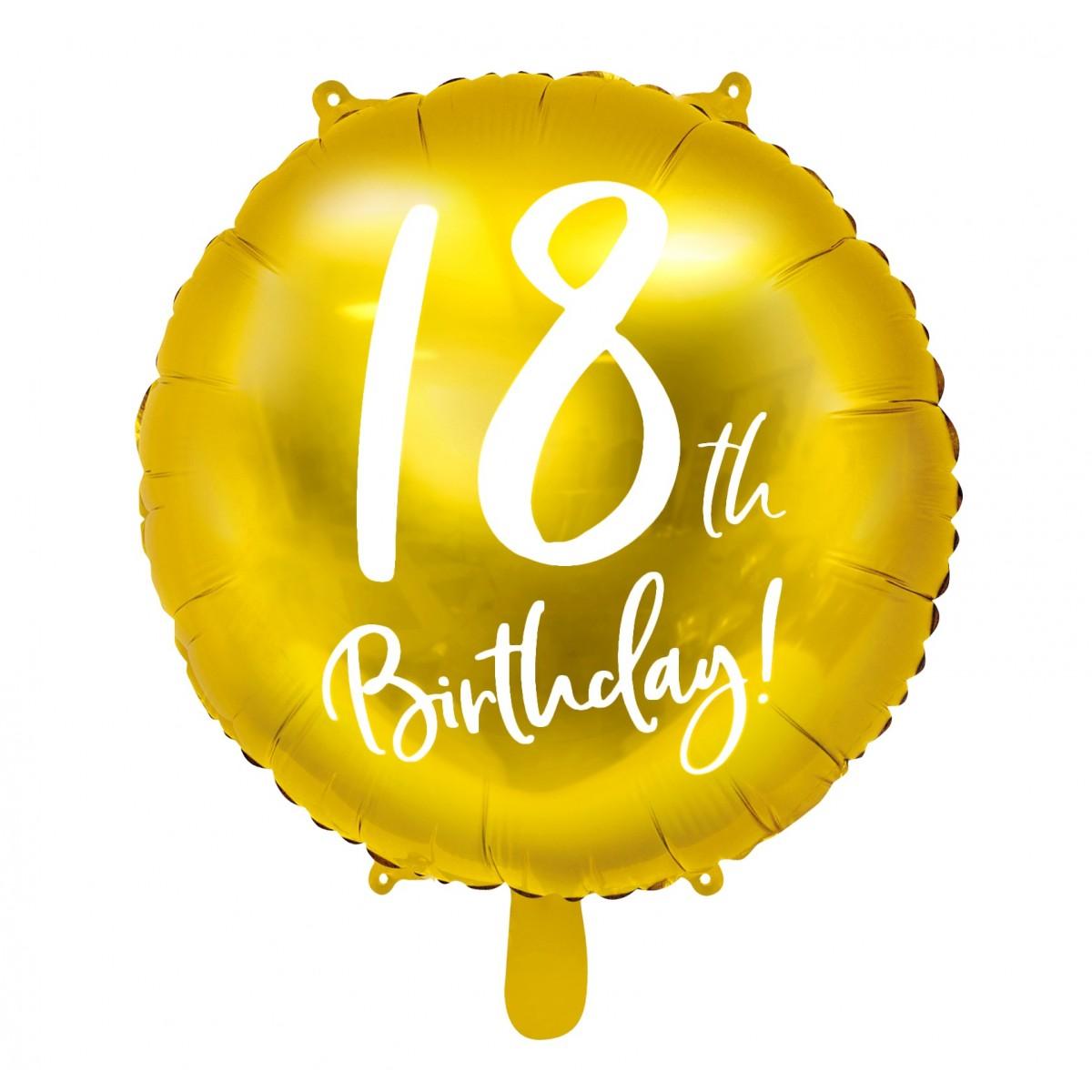 "Shape 18""/45cm Birthday Numbers oro"