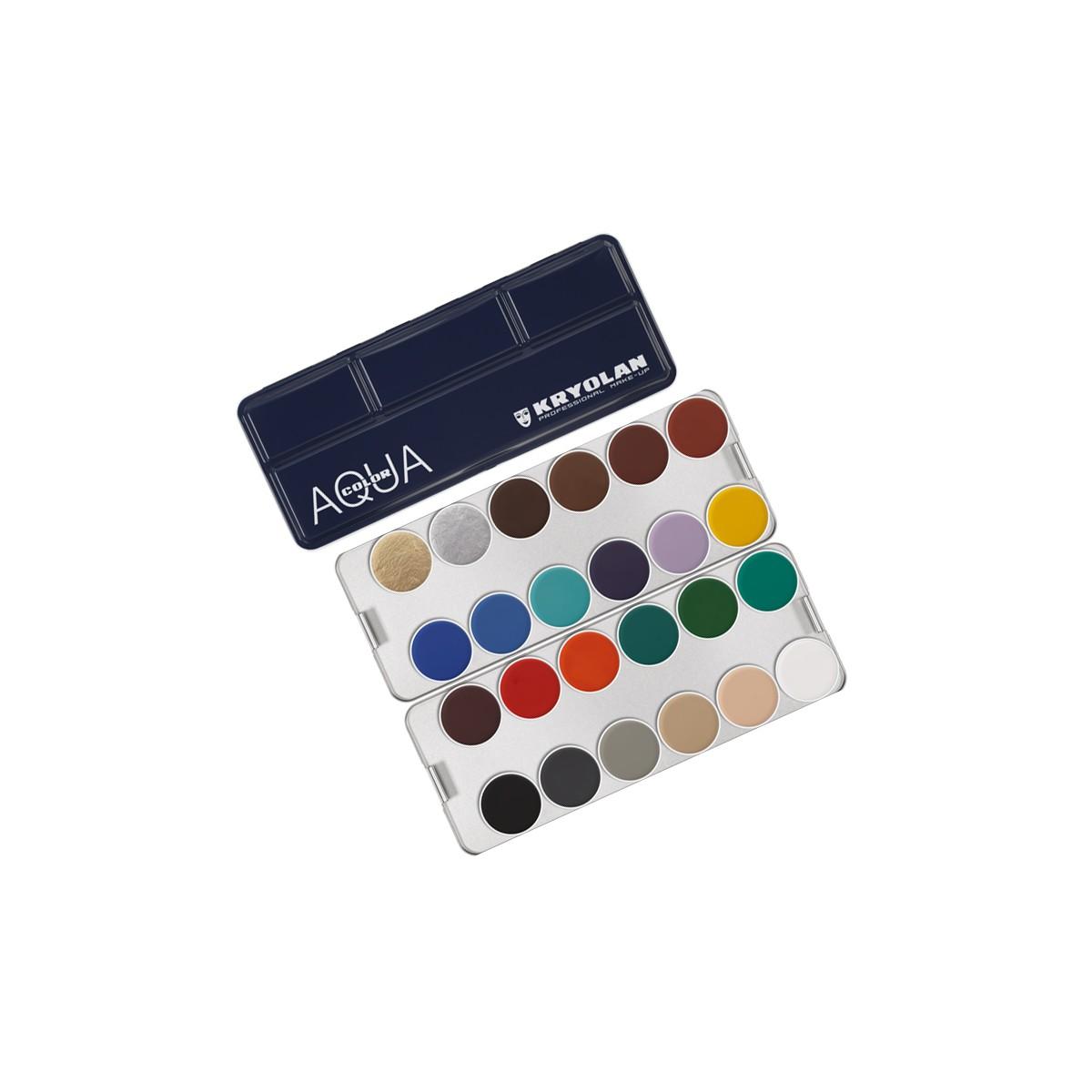 Aquacolor tavolozza Metallo 24 colori