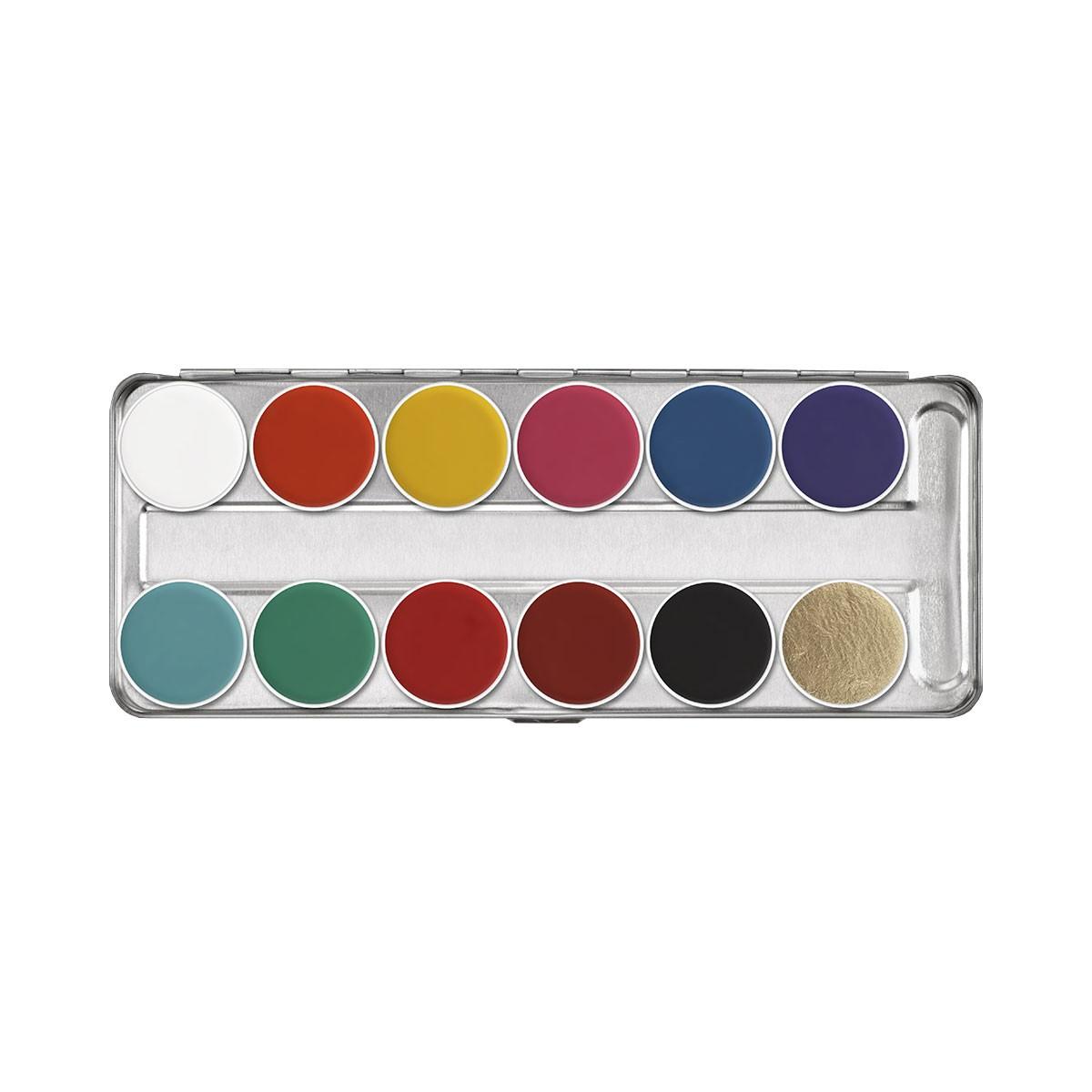 Aquacolor tavolozza Metallo 12 colori