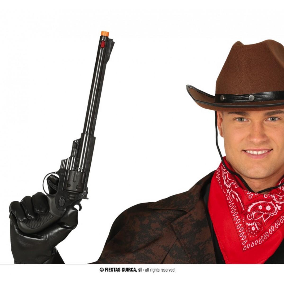 Pistola cow-boy a canne larghe 43cm