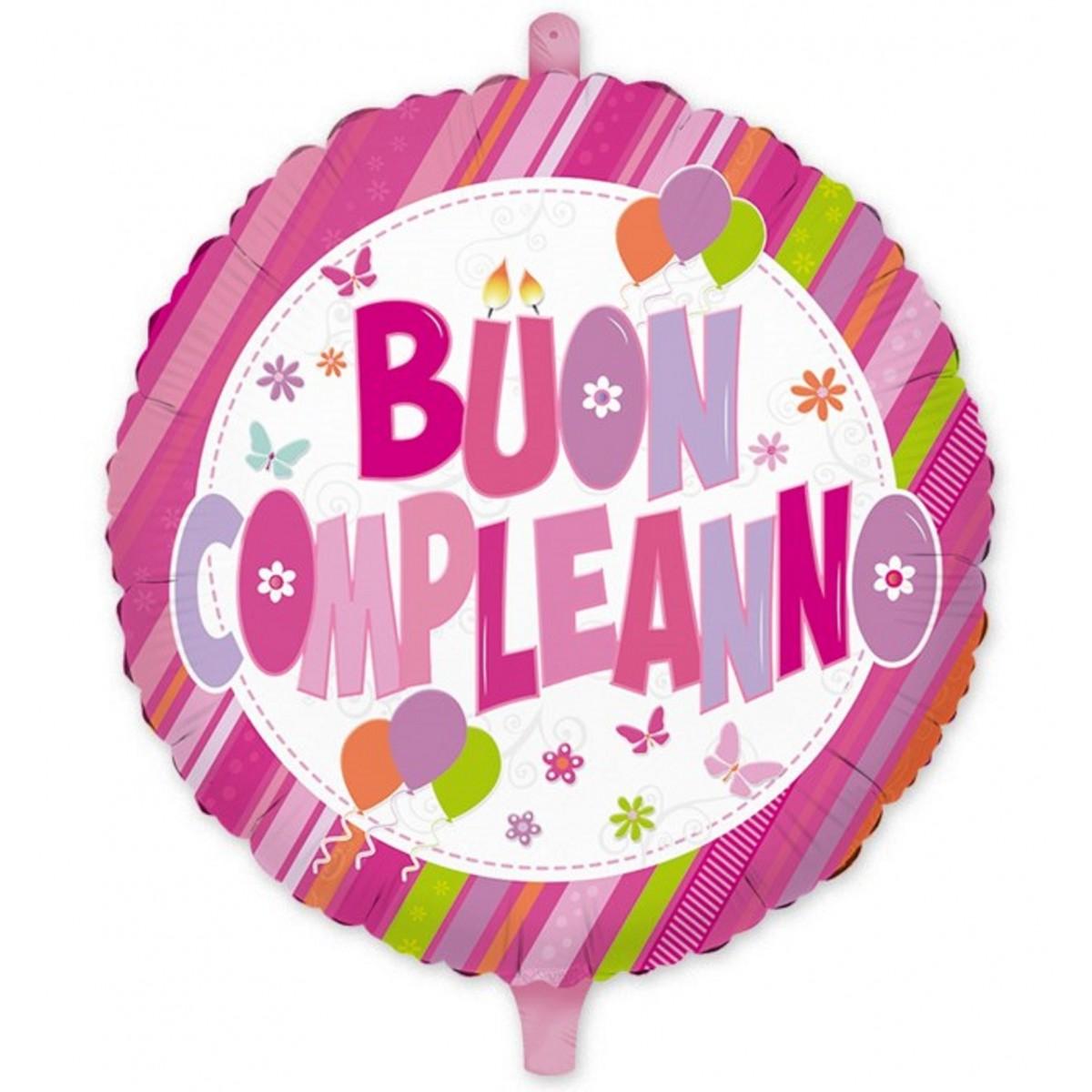 "Shape 18""/45cm Buon compleanno rosa"