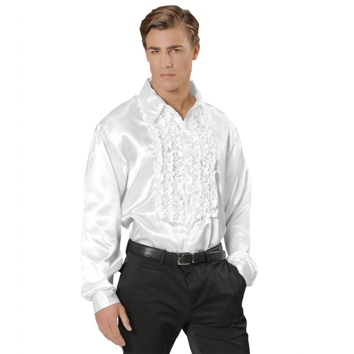 Camicia con ruches bianca