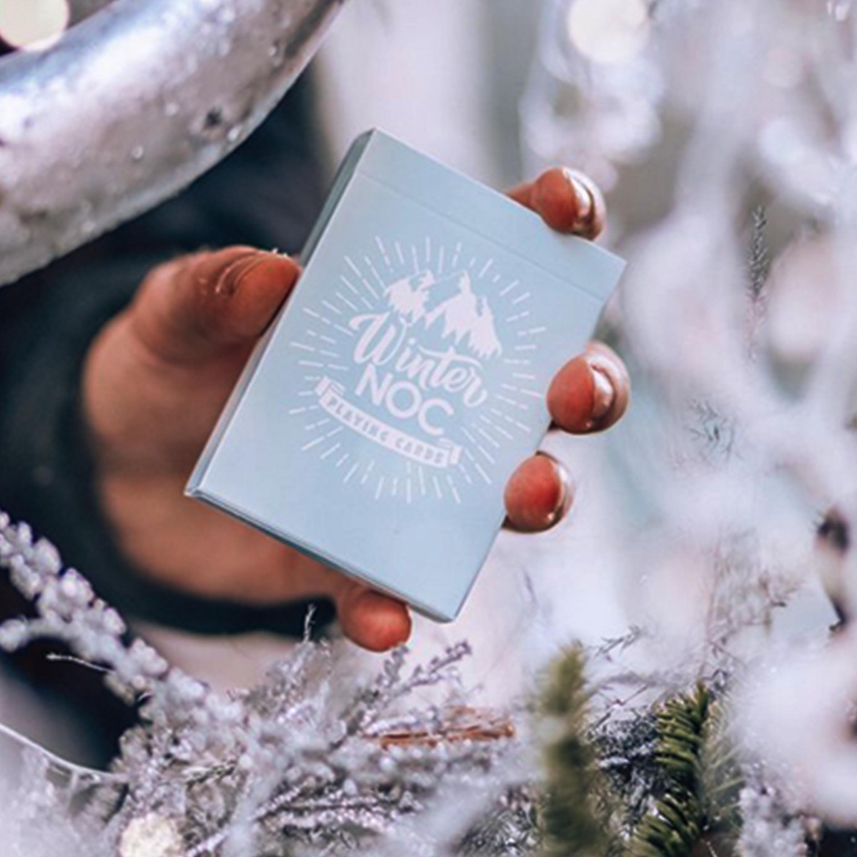 Winter NOC Glacier Ice blue playing cards