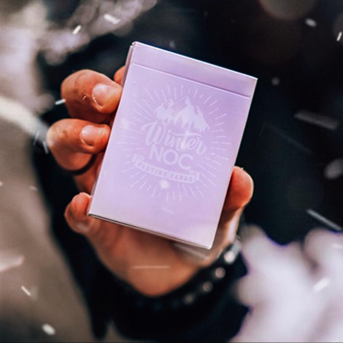 Winter NOC Lavender Dusk purple playing cards