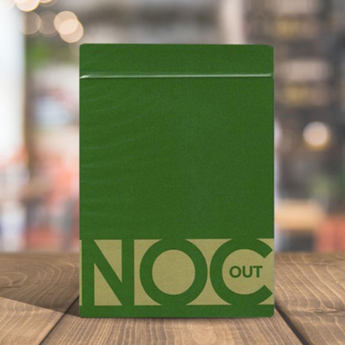 NOC Out Green and Gold playing cards