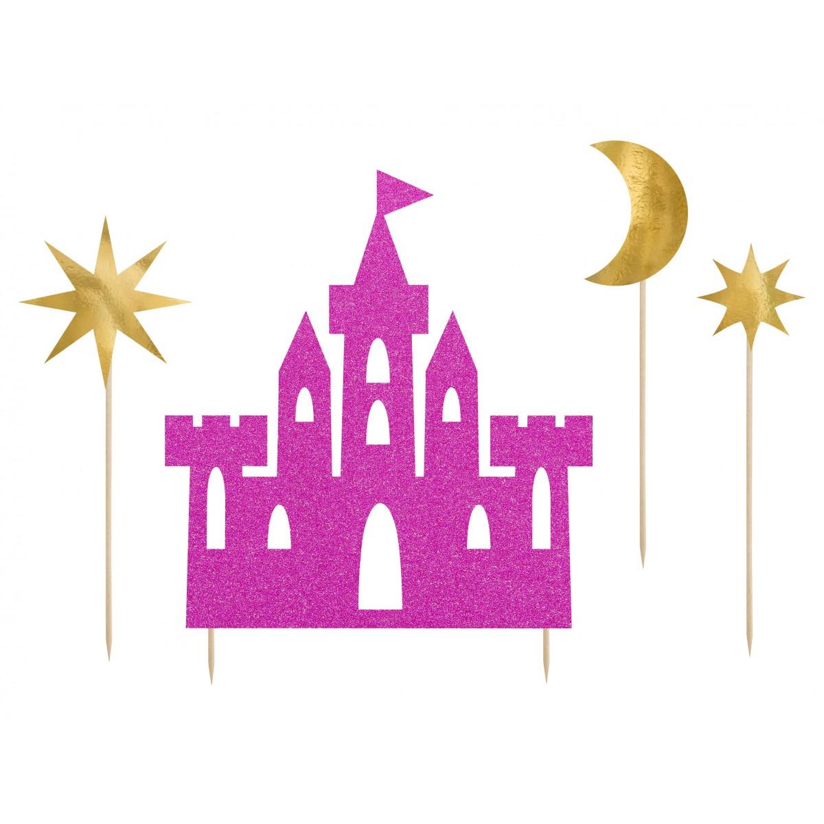 Cake topper castello princesse