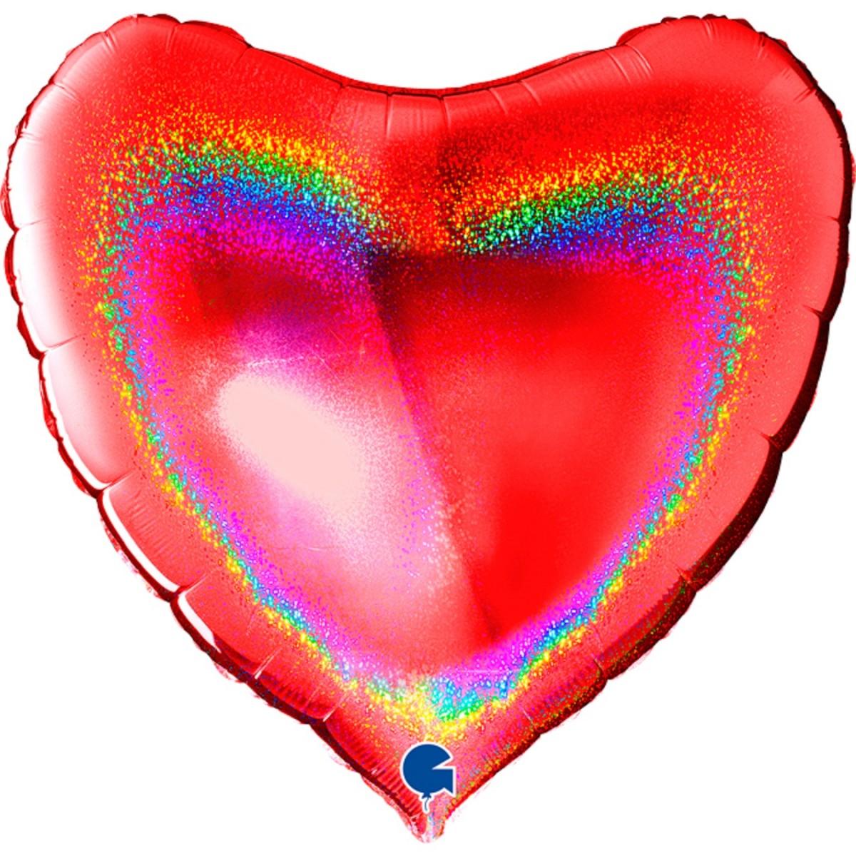 """Supershape cuore Glitter rosso 36""""/90cm Grabo"""