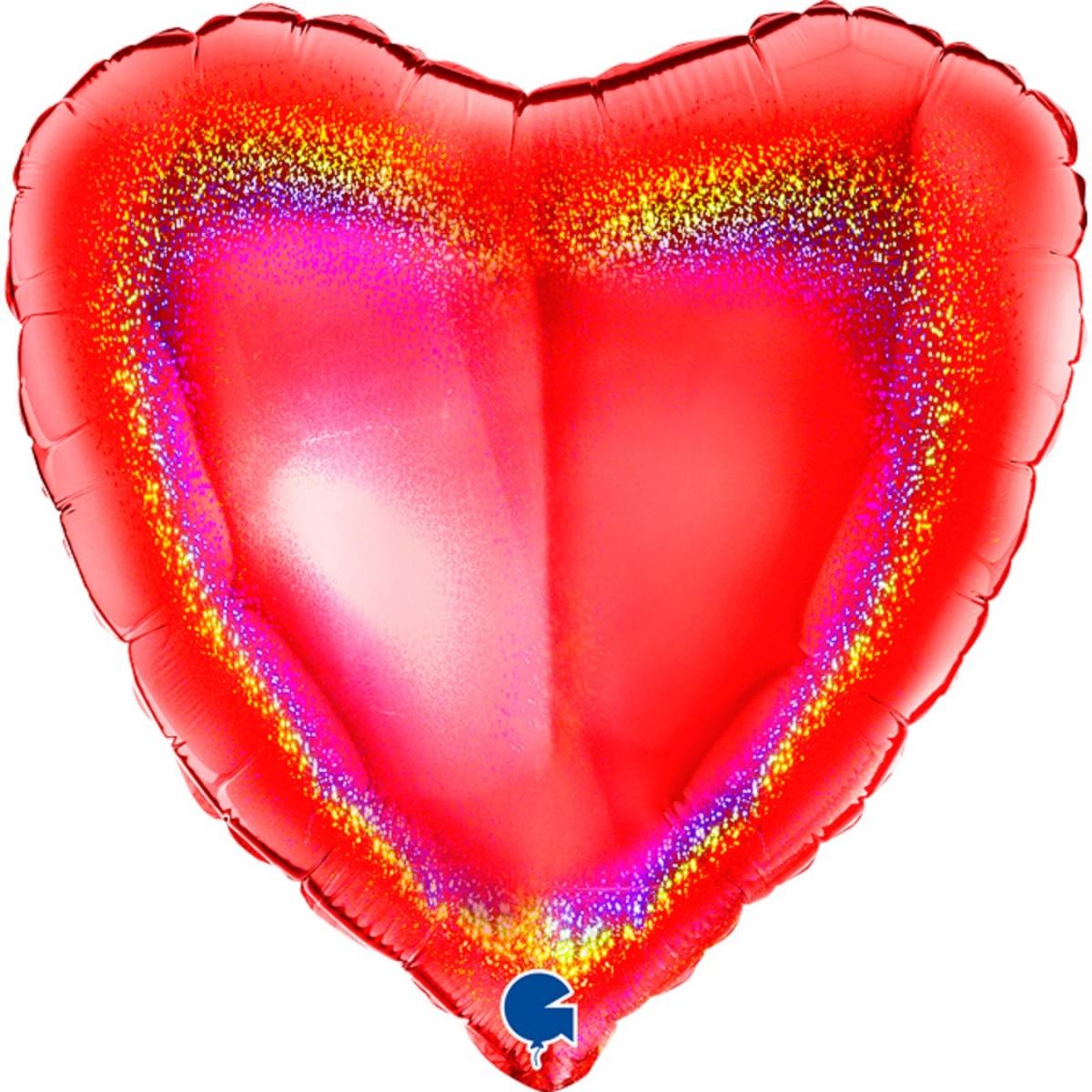 """Shape cuore Glitter rosso 18""""/45cm Grabo"""