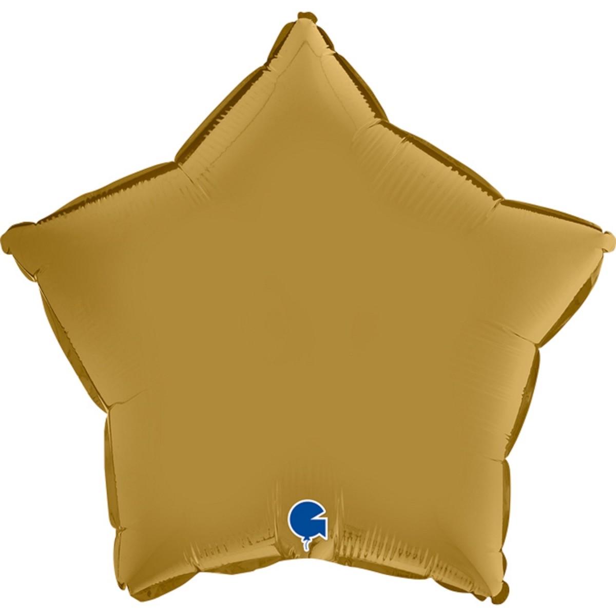 """Shape stella 18""""/45cm oro Satin Grabo Confezionato 1pz."""