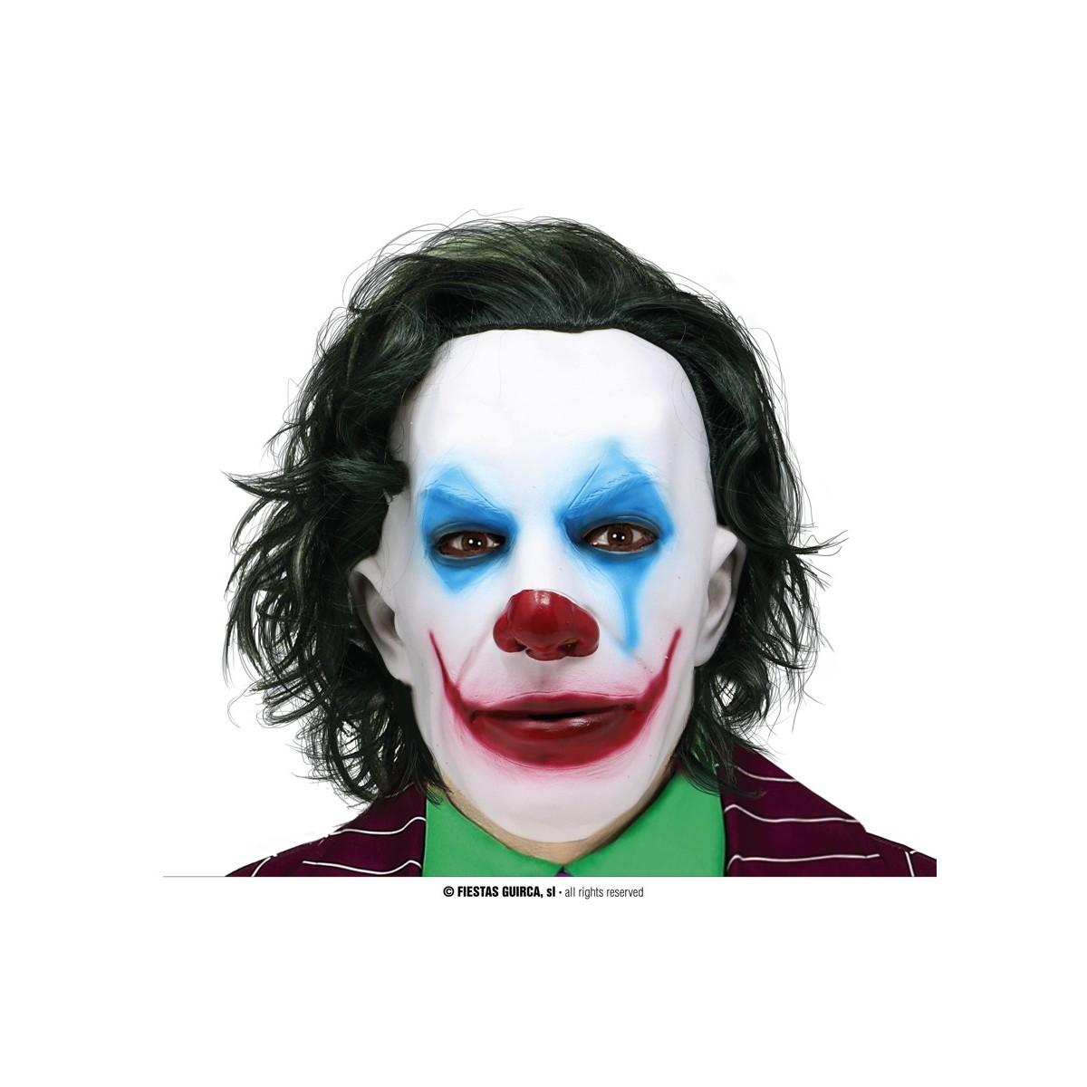 Maschera Joker con capelli in lattice