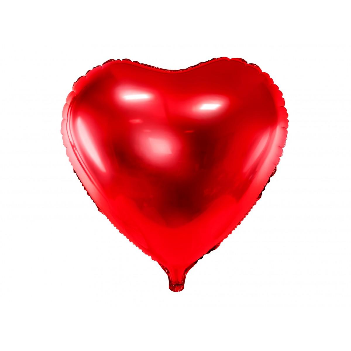 """Shape cuore rosso 18""""/45cm confezionato 1pz"""