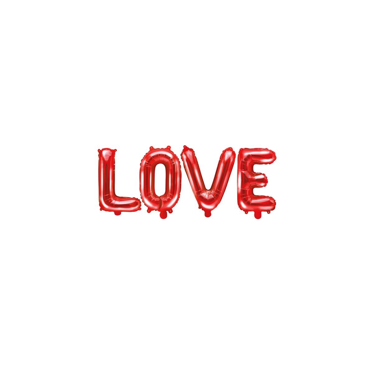 Scritta in foil Love 140 x 35cm Rosso