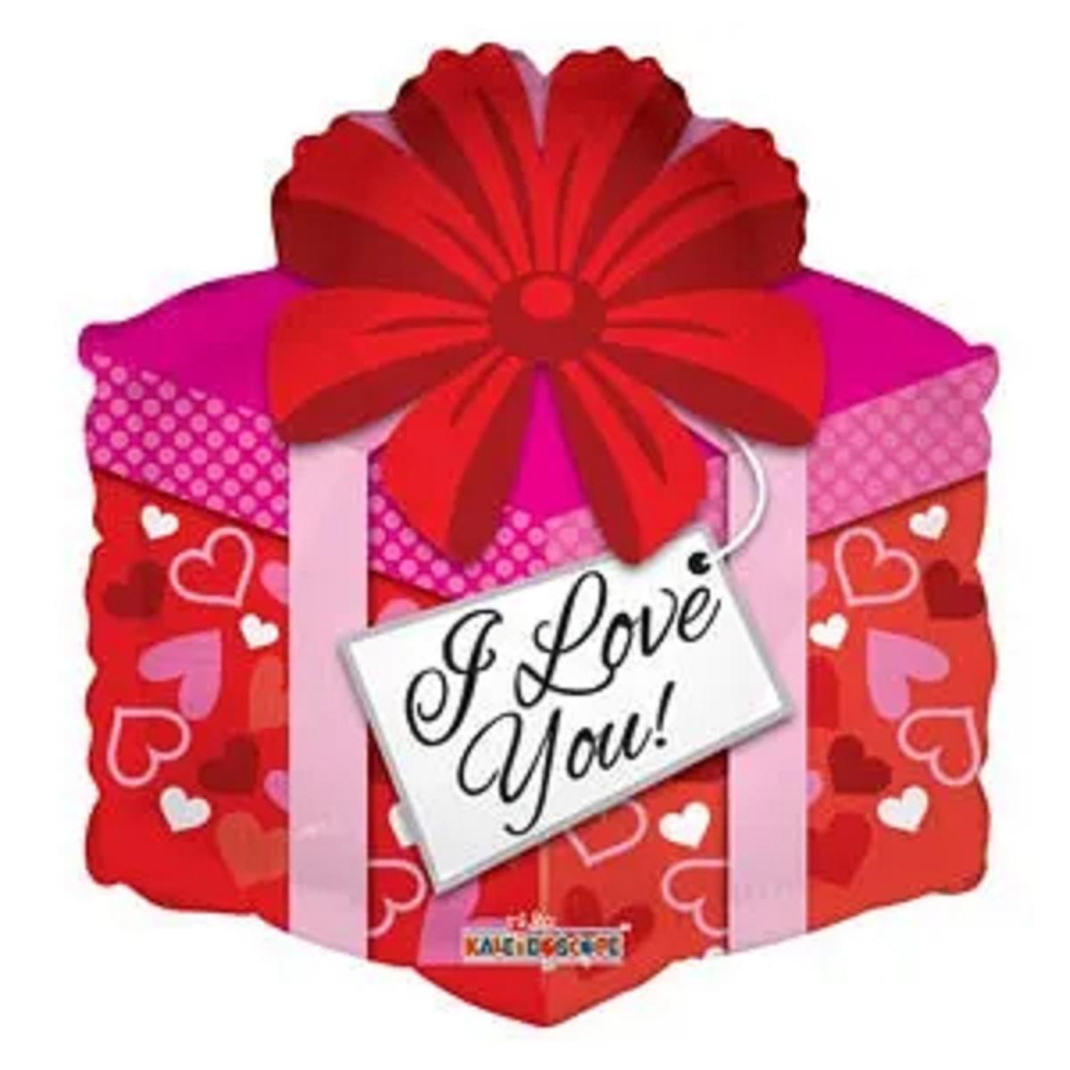 "Shape pacco regalo 18""/45cm I love you"