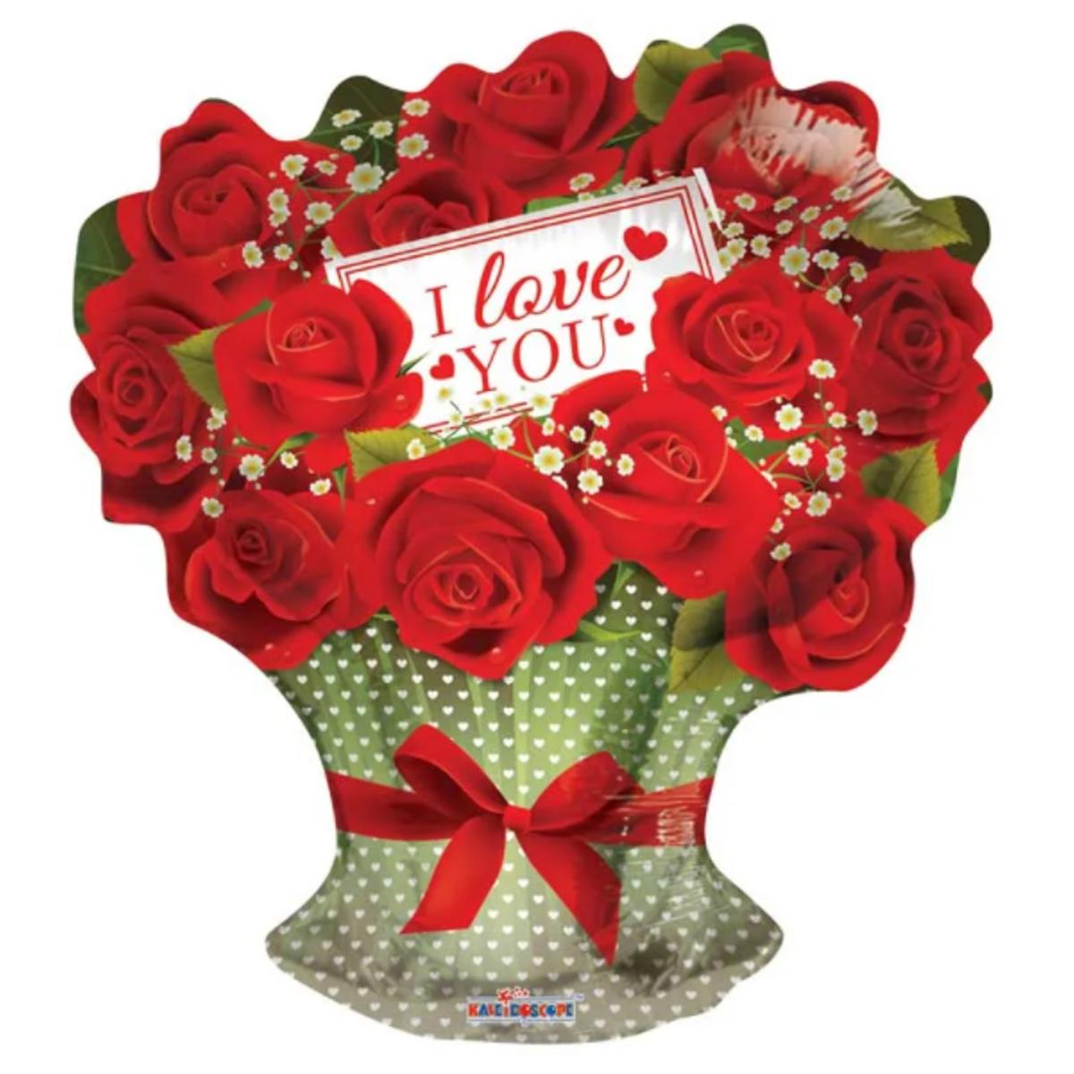 "Shape mazzo di rose 18""/45cm I love you"
