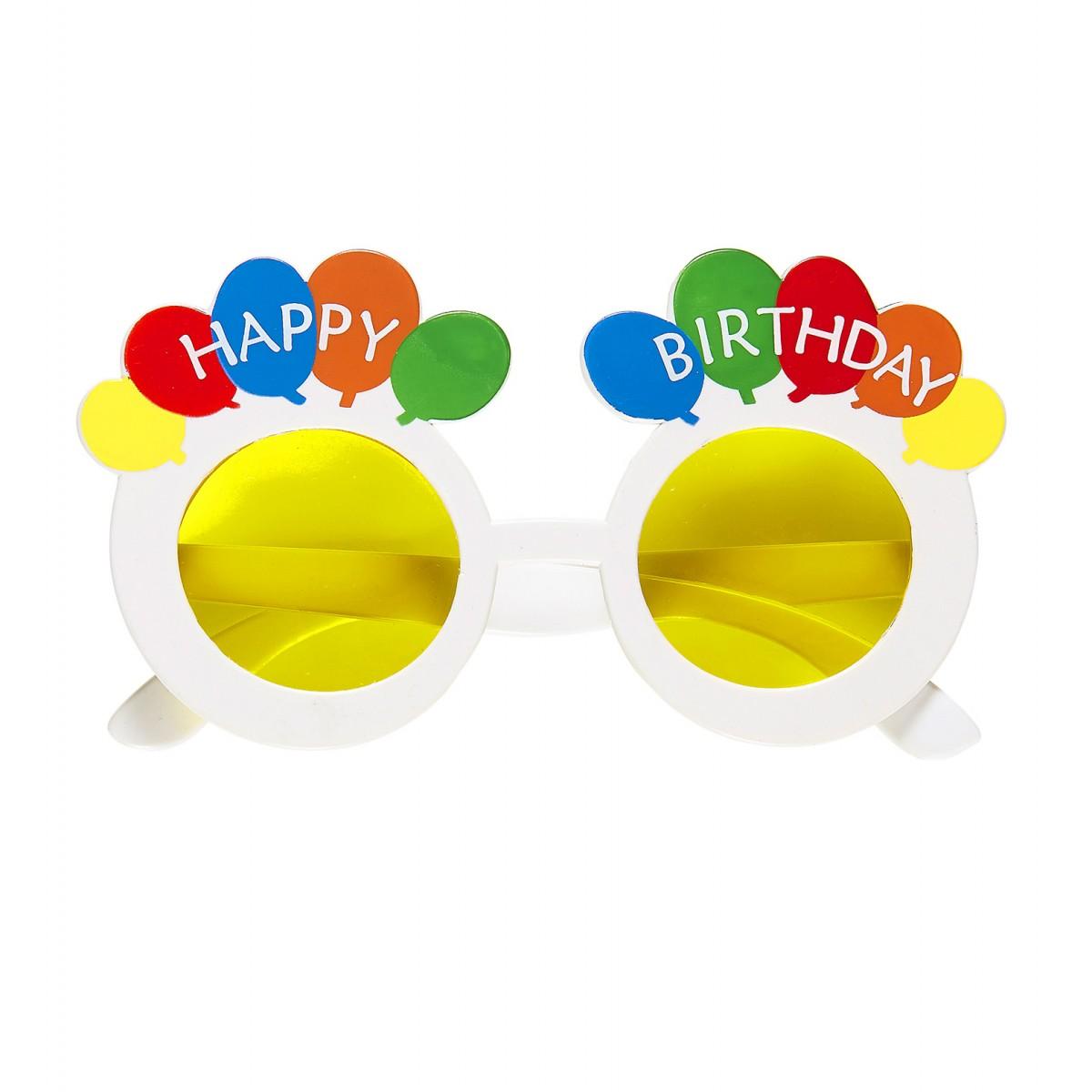 Occhiali happy birthday balloons