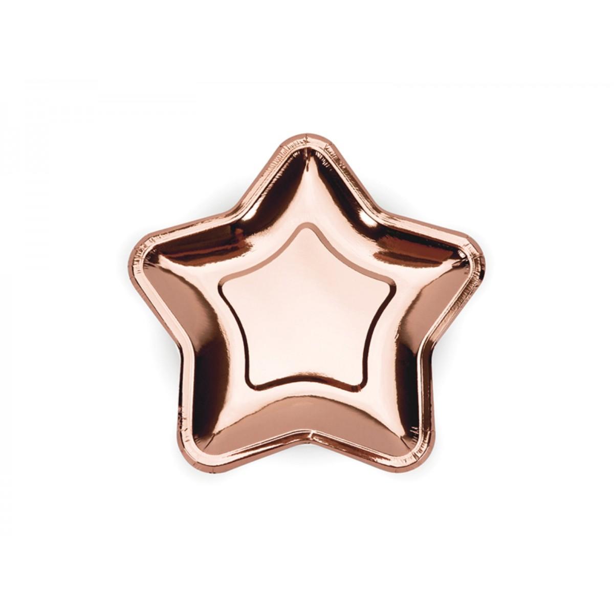 Piatti a stella rosegold 18cm 6pz