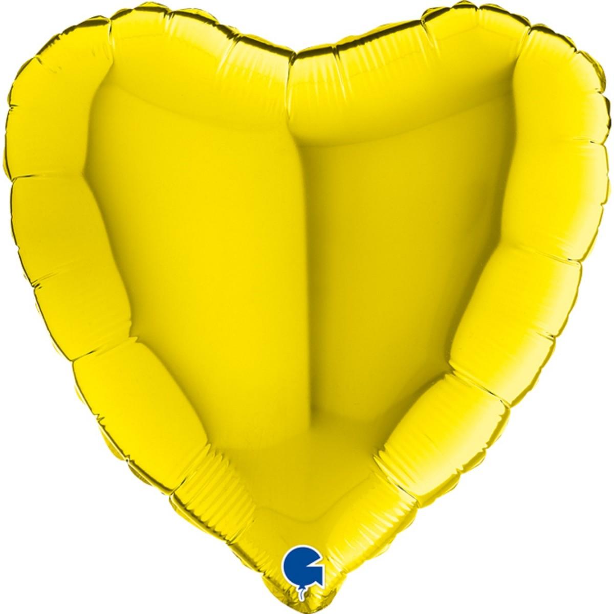 """Shape cuore 18""""/45cm Giallo Grabo confezionato 1pz."""