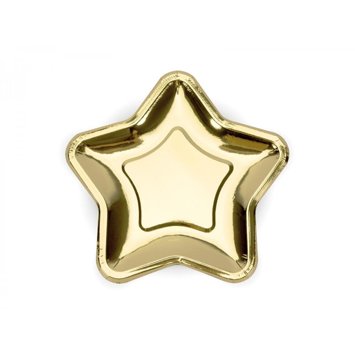 Piatti a stella oro 23cm 6pz