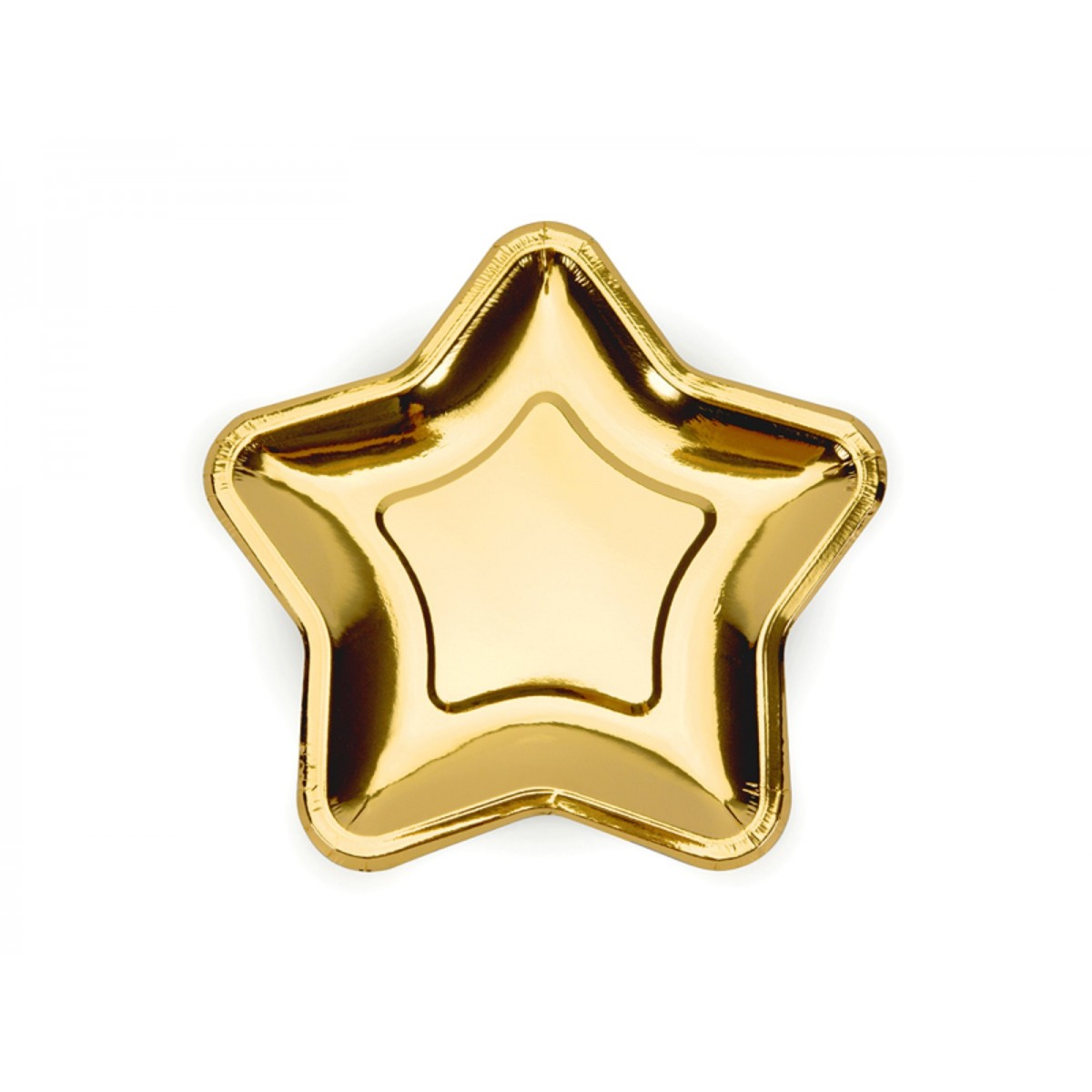 Piatti a stella oro 18cm 6pz