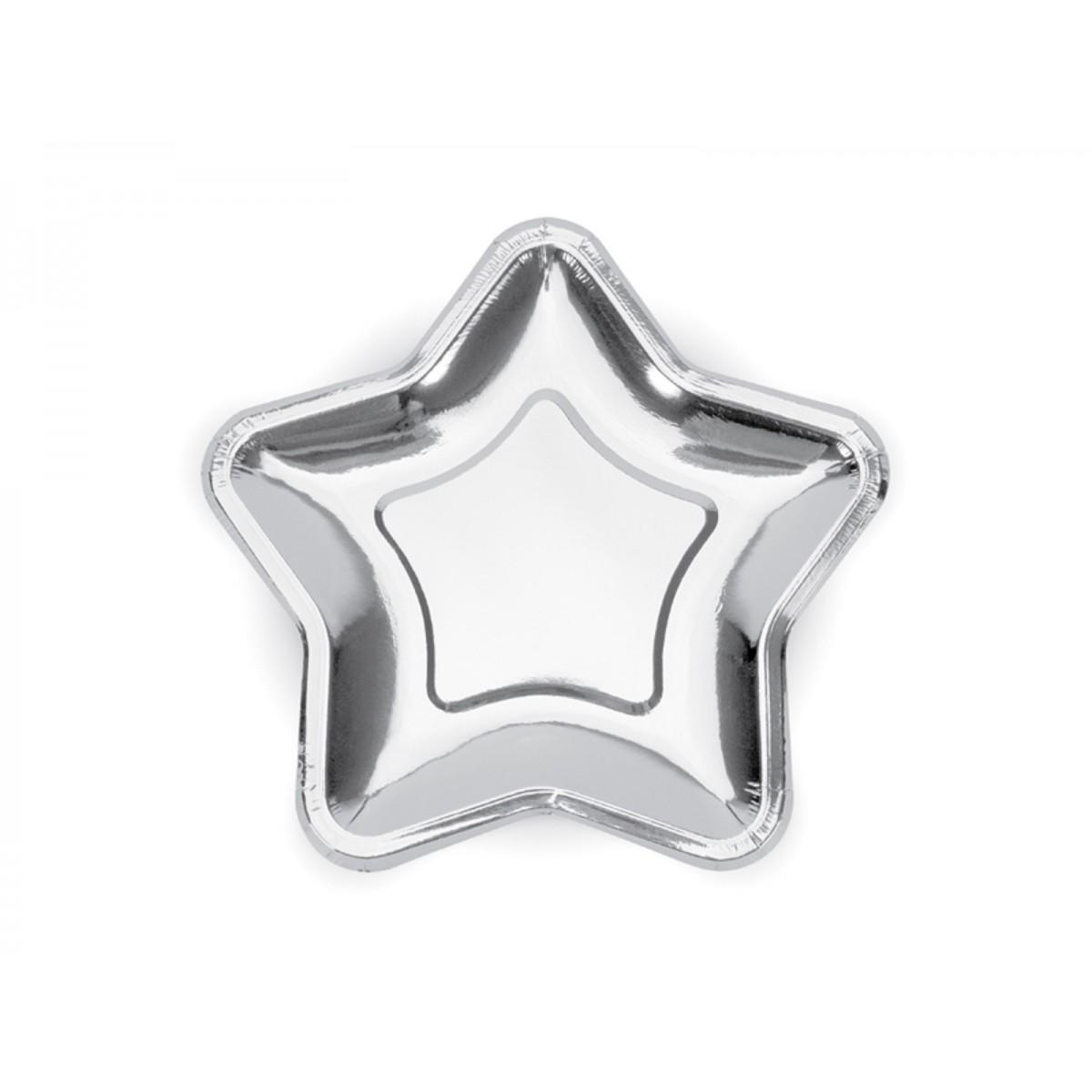 Piatti a stella argento 23cm 6pz