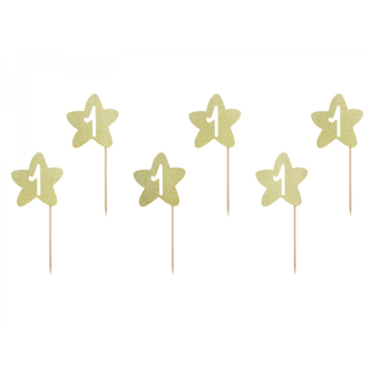 Cupcake toppers 1st Birthday 6pz