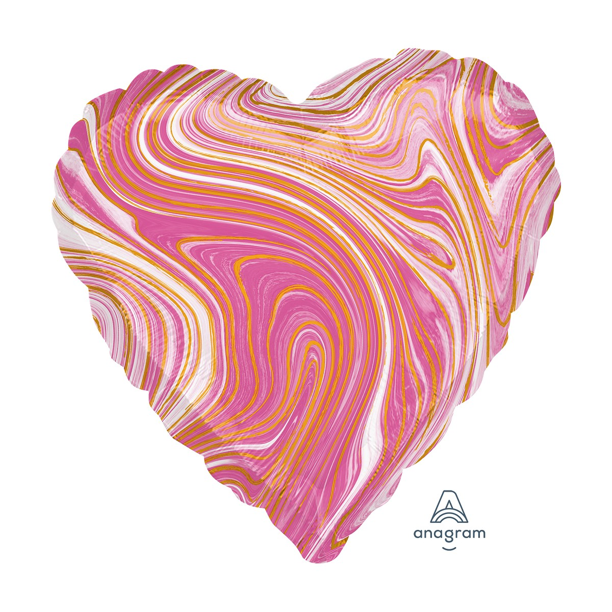 "Shape cuore 18""/45cm Marblez vari colori"