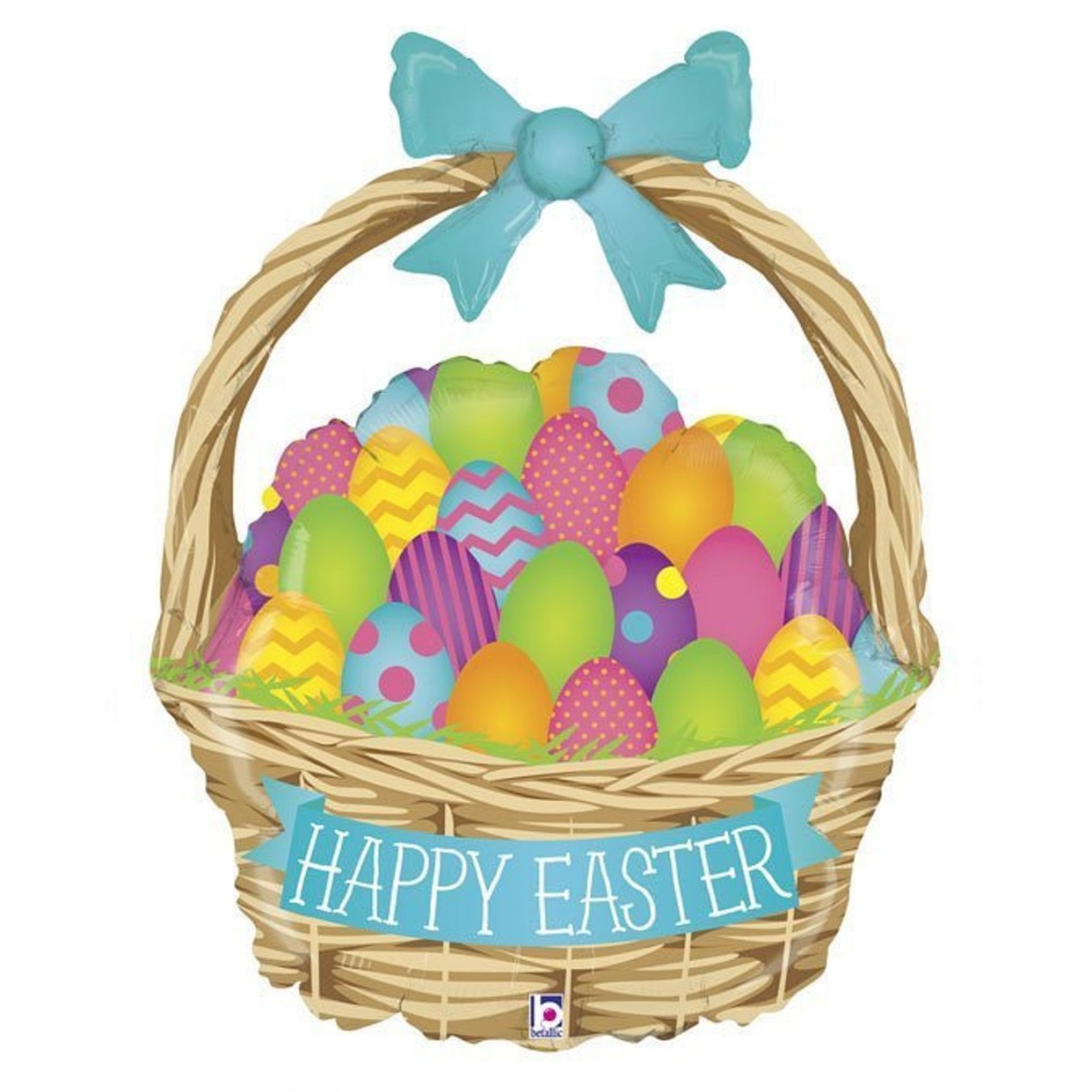 "Supershape cestino 39""/99cm Happy Easter"