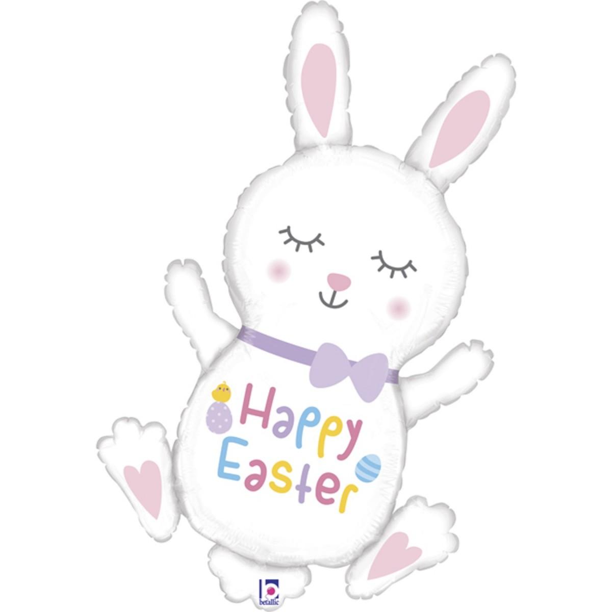 "Supershape coniglio 38""/97cm Happy Easter"
