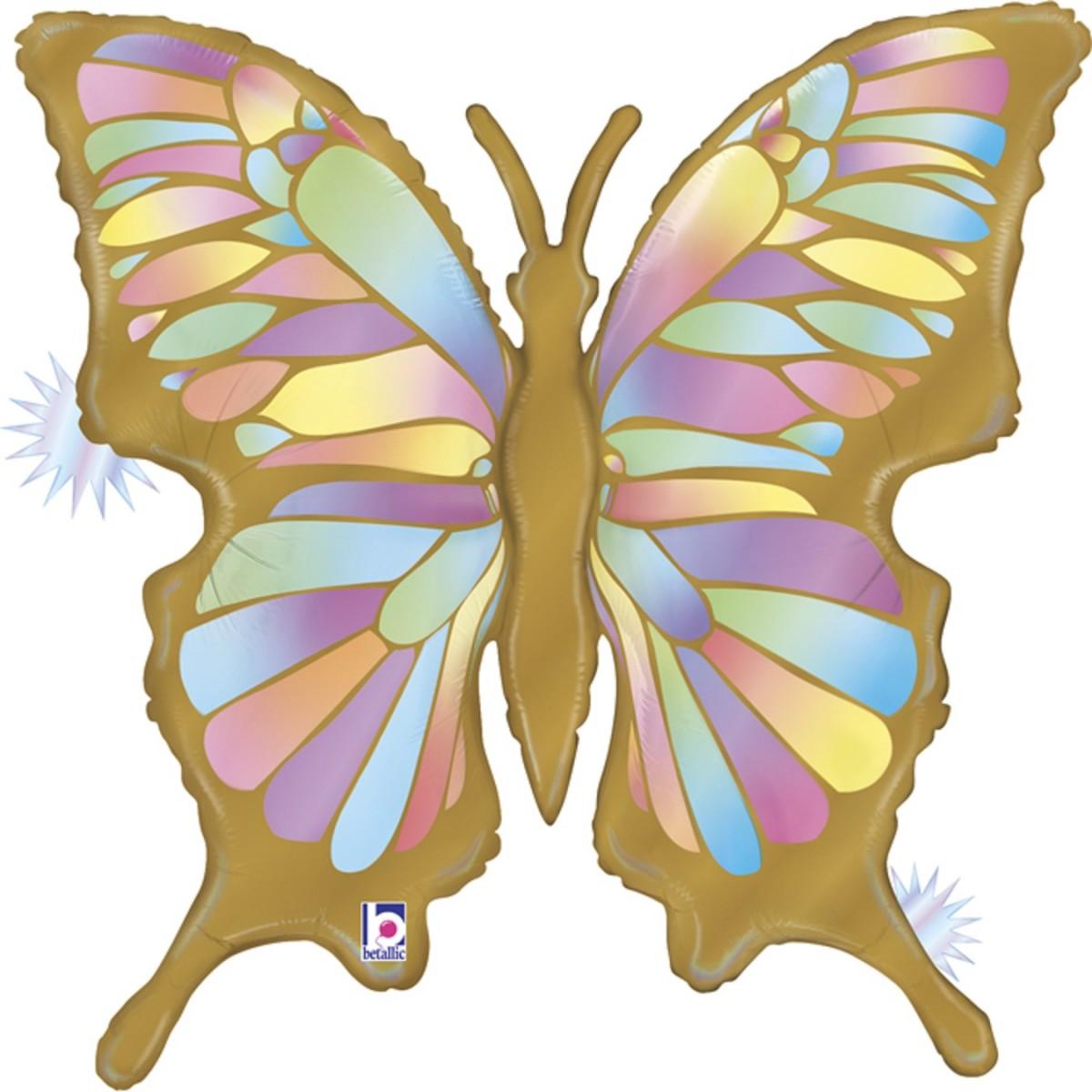 """Supershape 33""""/84cm Opal butterfly - farfalla"""