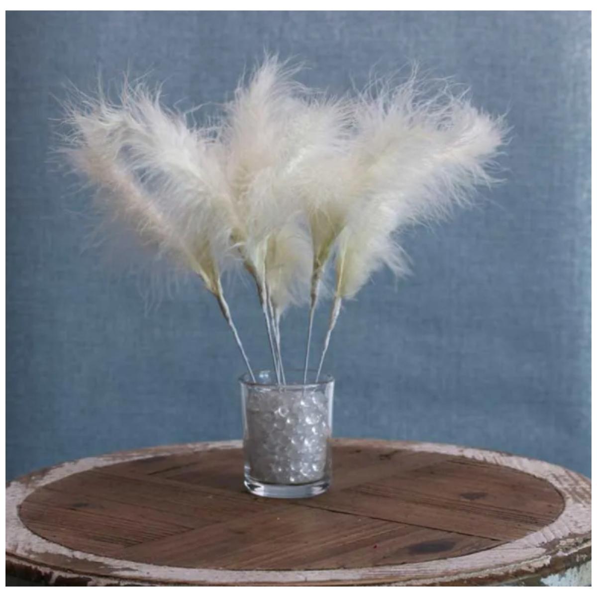 Piume decorative 25cm 6pz Vari colori