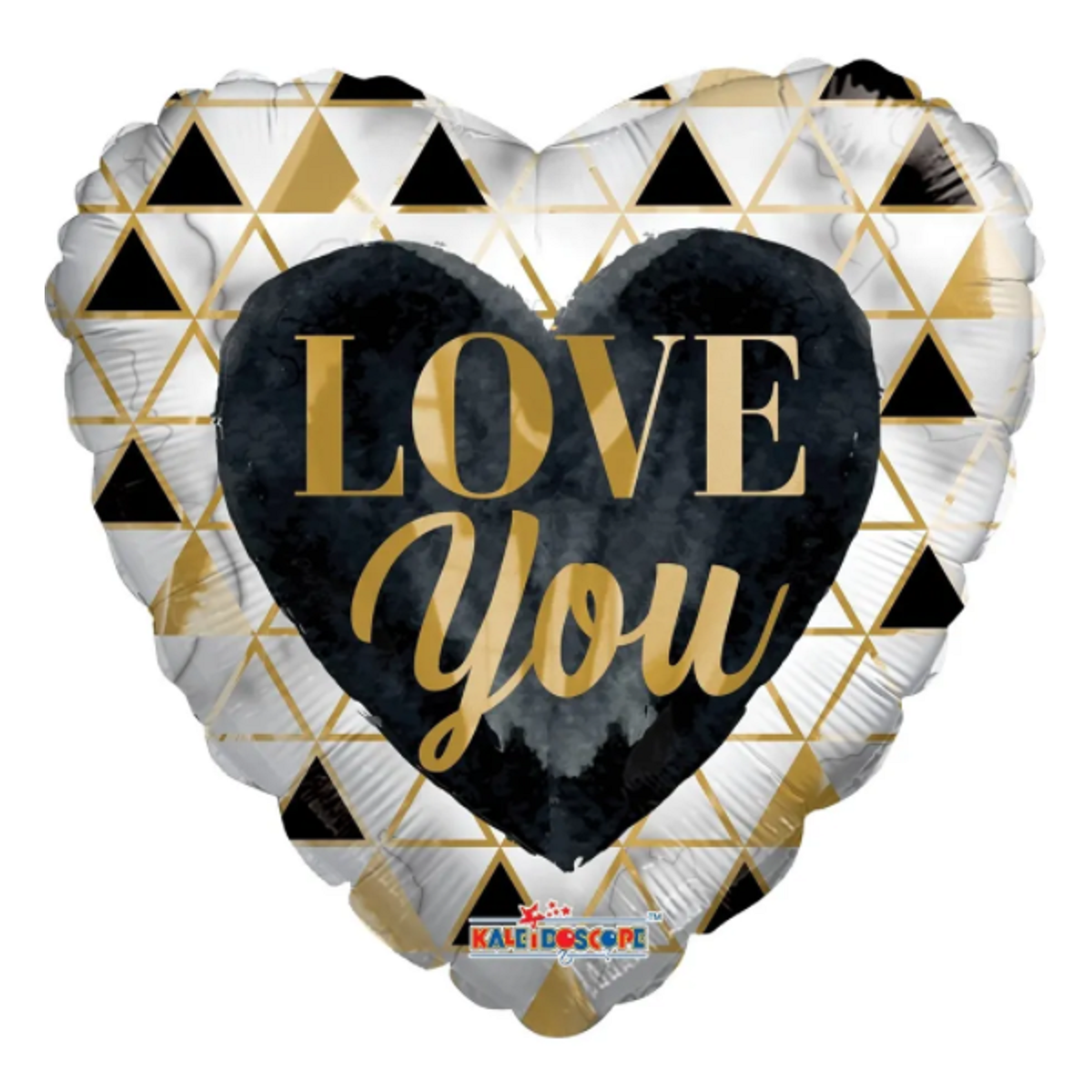 """Shape cuore 18""""/45cm Love you black and gold"""