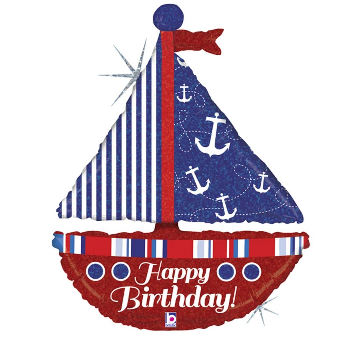 "Supershape 37""/94cm Nautical birthday sailboat"