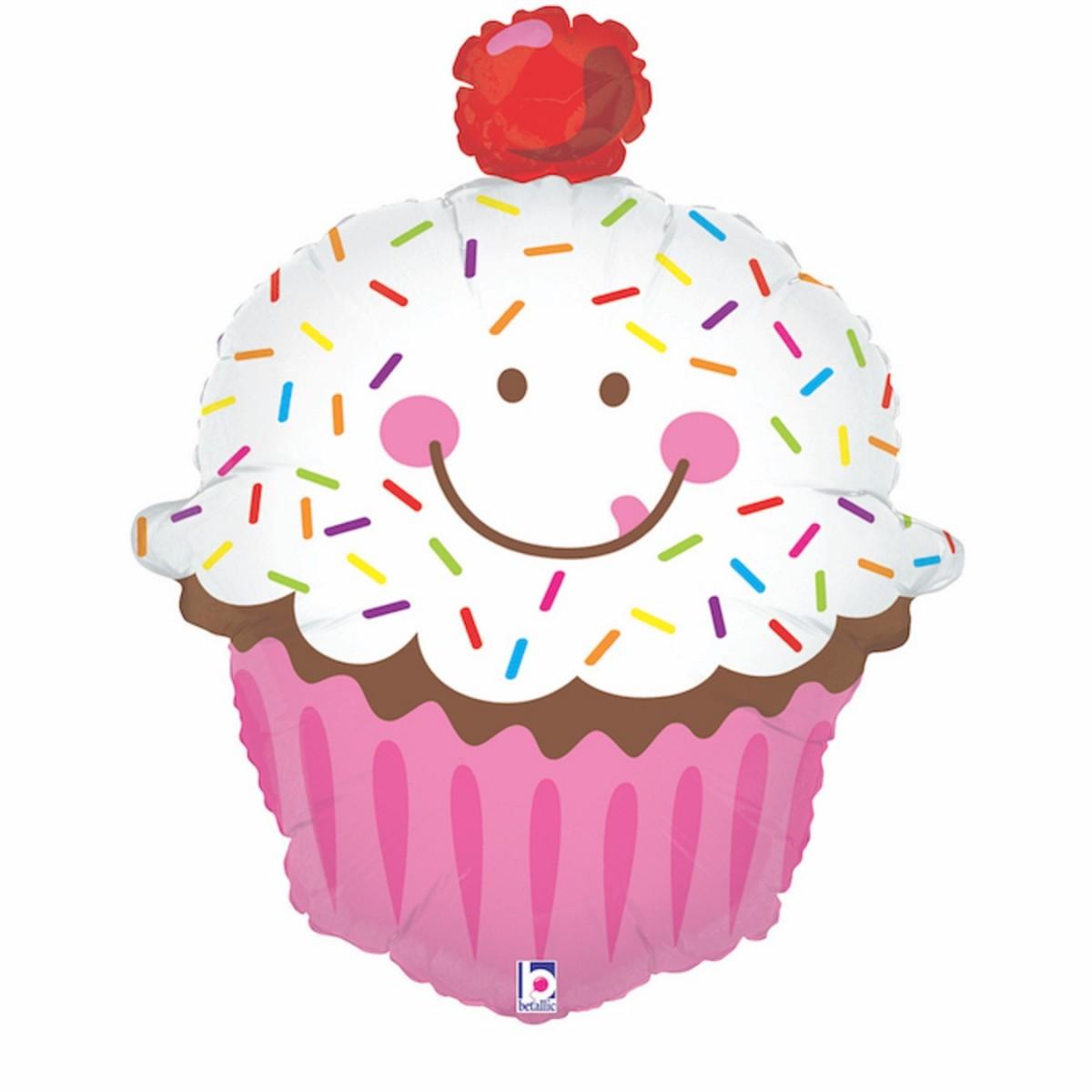 """Supershape 31""""/79cm Cupcake con confetti"""