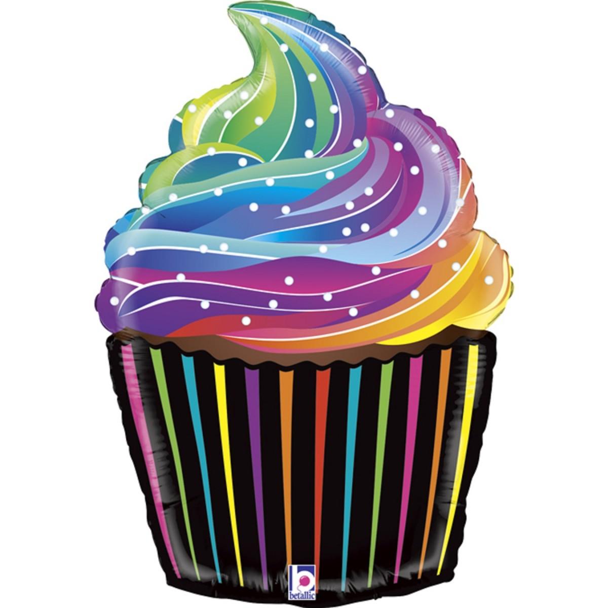 "Supershape 27""/69cm Rainbow cupcake"