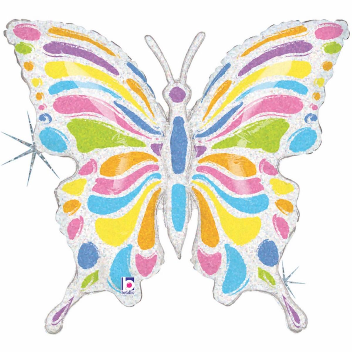 "Supershape 33""/84cm farfalla pastel"