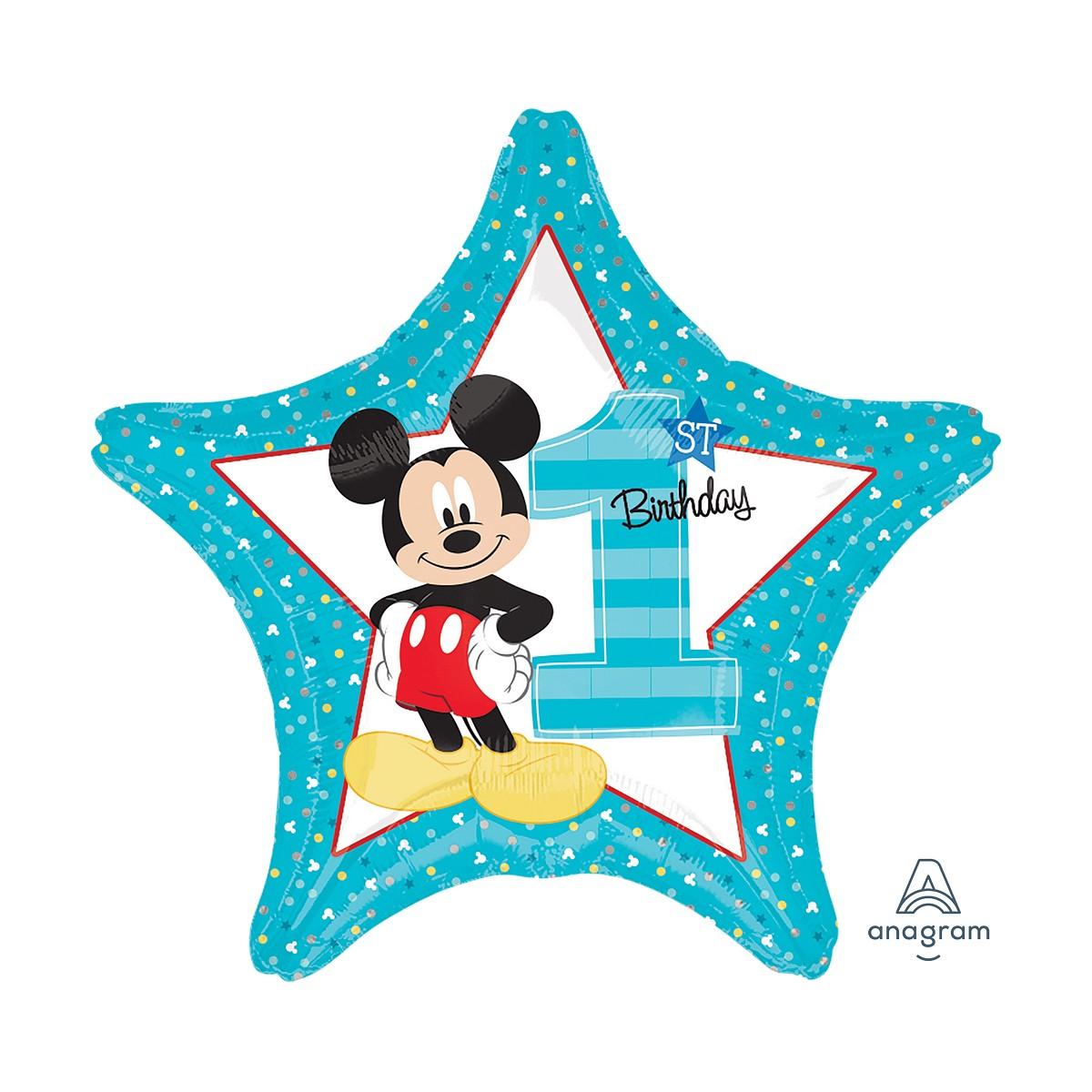 """Shape stella 18""""/45cm Mickey 1st birthday"""