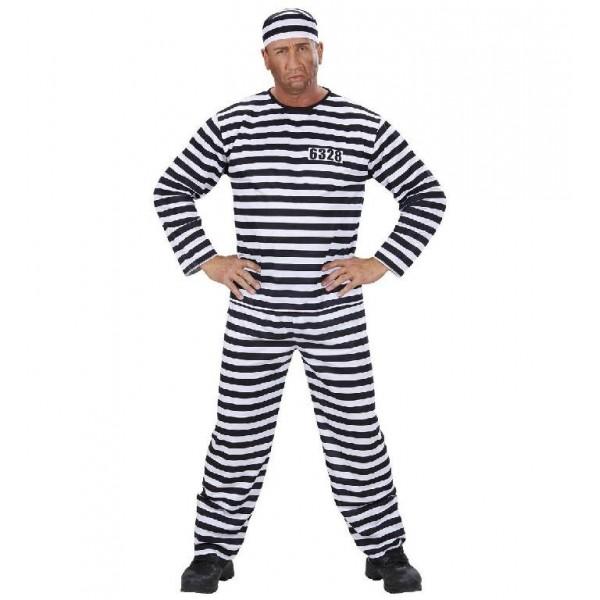 Costume carcerato confezione 3 pz