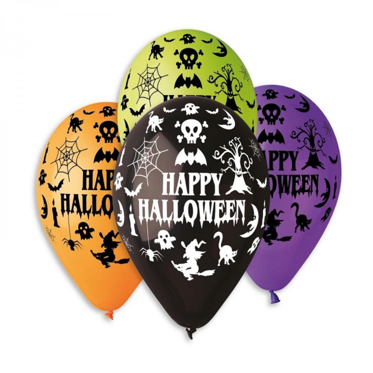 "Palloncini 13""/33cm Happy Halloween 50pz"