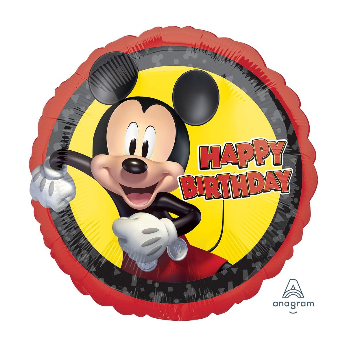 """Shape 17""""/43cm Mickey forever Happy Birthday"""