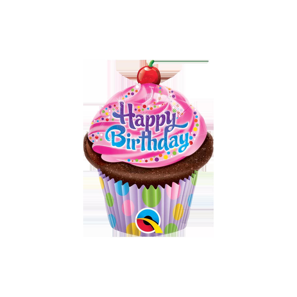 "Minishape 14""/35cm Cupcake Happy birthday"