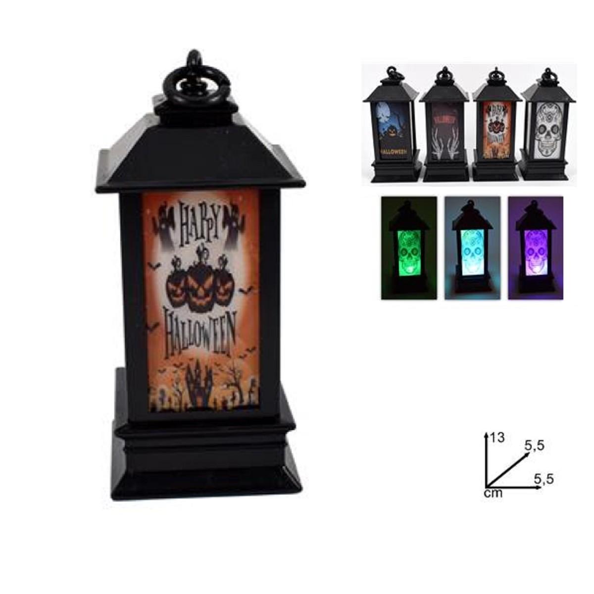 Lanterna luminosa Halloween 13cm v. modelli