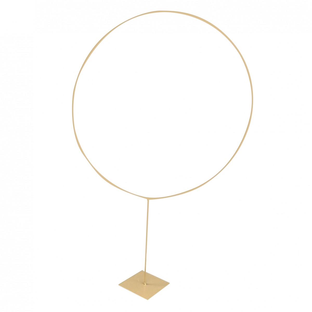 Hoop con base  H.160cm Ø 100cm Oro