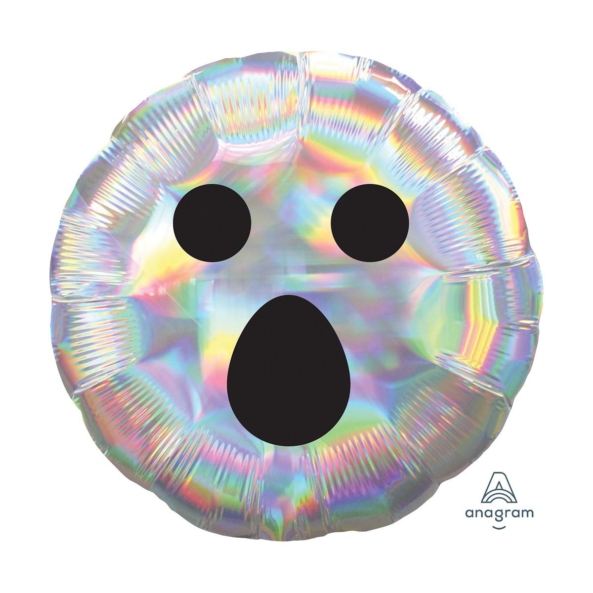"""Shape round iridiscente 18""""/45cm fantasma"""