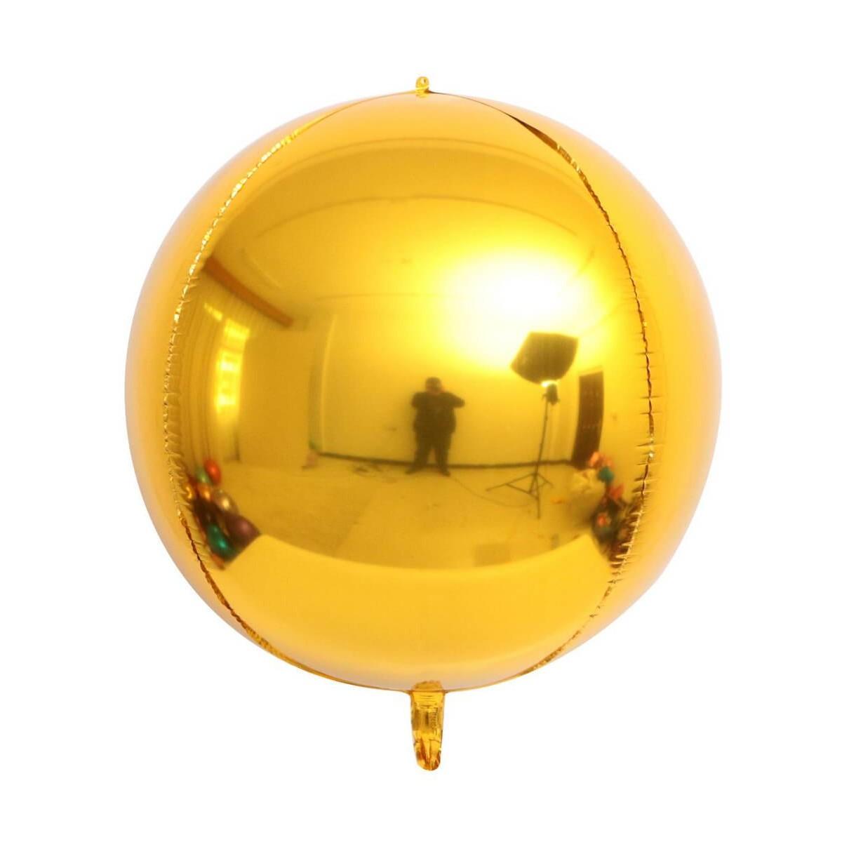 Pallone mylar sfera 55 cm v. colori